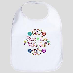 Peace Love Volleyball Bib