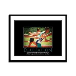 Delegation Framed Panel Print