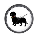 Christmas or Holiday Dachshund Silhouette Wall Clo