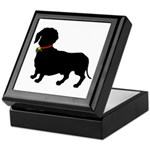 Christmas or Holiday Dachshund Silhouette Keepsake