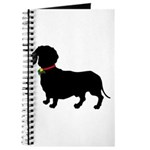 Christmas or Holiday Dachshund Silhouette Journal