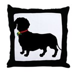 Christmas or Holiday Dachshund Silhouette Throw Pi