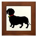 Christmas or Holiday Dachshund Silhouette Framed T
