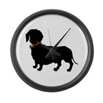 Christmas or Holiday Dachshund Silhouette Large Wa