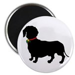 Christmas or Holiday Dachshund Silhouette Magnet