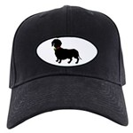 Christmas or Holiday Dachshund Silhouette Black Ca