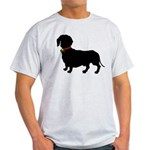 Christmas or Holiday Dachshund Silhouette Light T-