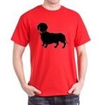 Christmas or Holiday Dachshund Silhouette Dark T-S