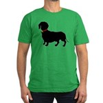 Christmas or Holiday Dachshund Silhouette Men's Fi