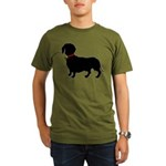 Christmas or Holiday Dachshund Silhouette Organic
