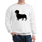 Christmas or Holiday Dachshund Silhouette Sweatshi