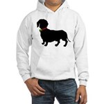 Christmas or Holiday Dachshund Silhouette Hooded S