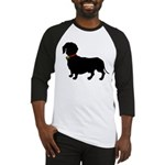 Christmas or Holiday Dachshund Silhouette Baseball