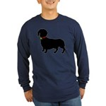 Christmas or Holiday Dachshund Silhouette Long Sle