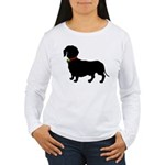 Christmas or Holiday Dachshund Silhouette Women's