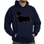 Christmas or Holiday Dachshund Silhouette Hoodie (