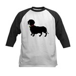Christmas or Holiday Dachshund Silhouette Kids Bas