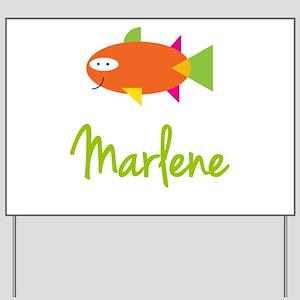 Marlene is a Big Fish Yard Sign