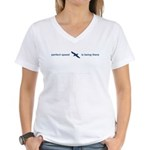 Perfect Speed Is Being There Women's V-Neck T-Shir