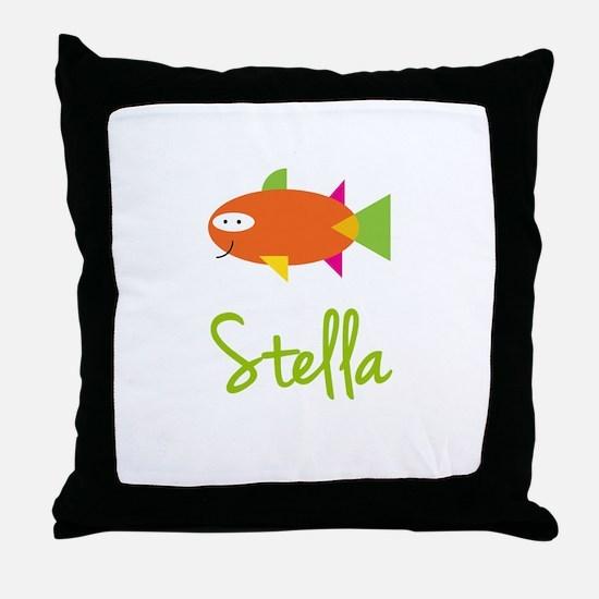 Stella is a Big Fish Throw Pillow