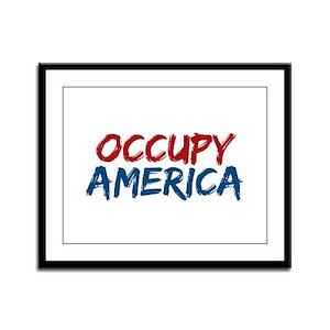 Occupy America Framed Panel Print