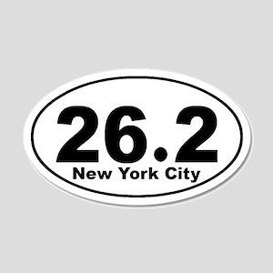 26.2 NYC marathon 22x14 Oval Wall Peel
