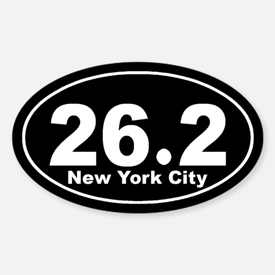 26.2 New York City marathon Sticker (Oval)