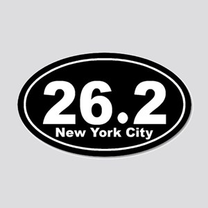 26.2 New York City marathon 22x14 Oval Wall Peel