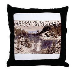Jmcks Merry Christmas Mr Snow Throw Pillow