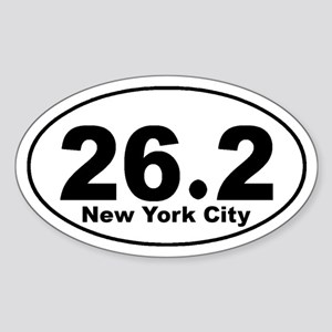 26.2 New York City Marathon s Sticker (Oval)