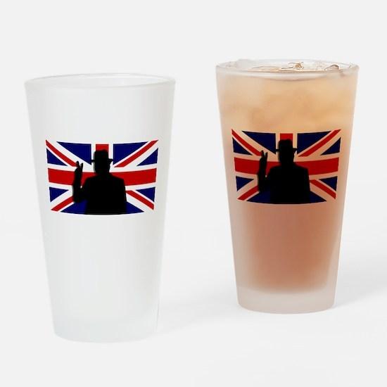 Winston Churchill Victory Drinking Glass