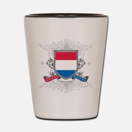 Netherlands Shield Shot Glass