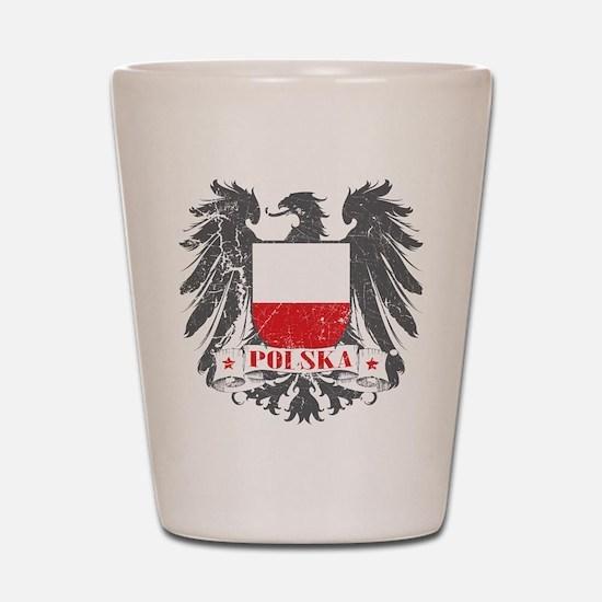 Polska Shield Shot Glass