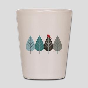 Winter Trees Shot Glass