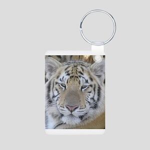 Tiger Portait Aluminum Photo Keychain