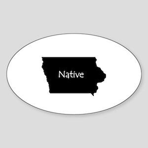 IowaNative-light Sticker