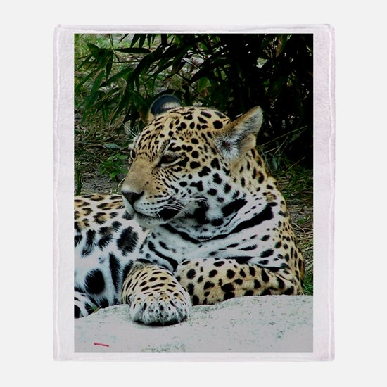 Jaguar Portrait Throw Blanket