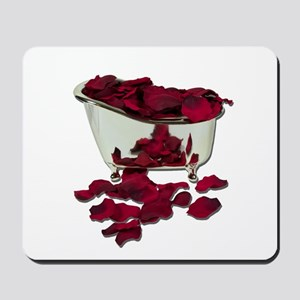 Bathtub Filled with Petals Mousepad