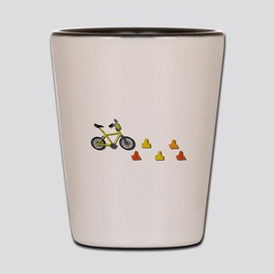 Bicycle Traffic Cones Shot Glass