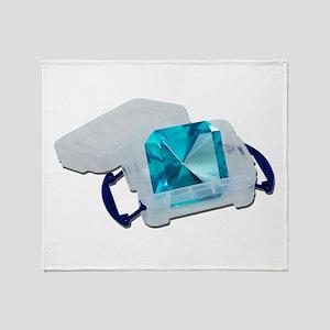 Blue Gem Plastic Crate Throw Blanket