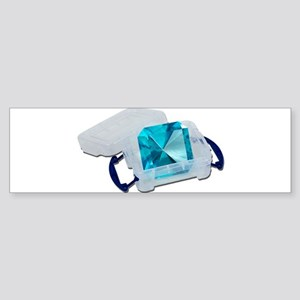 Blue Gem Plastic Crate Sticker (Bumper)