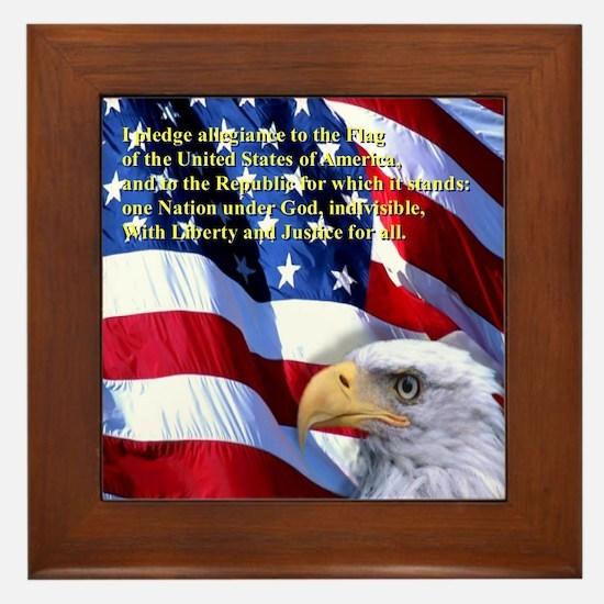 Pledge of Allegiance Framed Tile