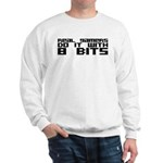 Real Gamers Do It With 8 Bits Sweatshirt
