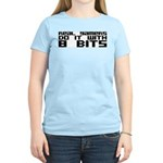 Real Gamers Do It With 8 Bits Women's Light T-Shir