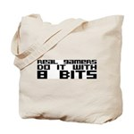 Real Gamers Do It With 8 Bits Tote Bag