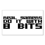 Real Gamers Do It With 8 Bits Sticker (Rectangle)