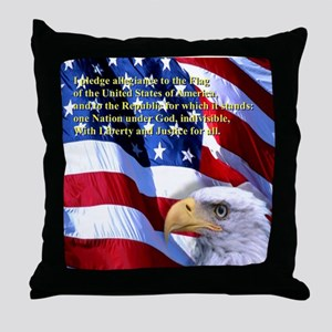 Pledge of Allegiance Throw Pillow