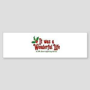 It Was a Wonderful Life Sticker (Bumper)