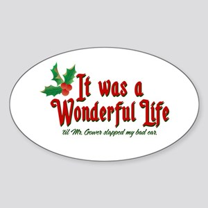 It Was a Wonderful Life Sticker (Oval)