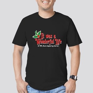 It Was a Wonderful Life Men's Fitted T-Shirt (dark